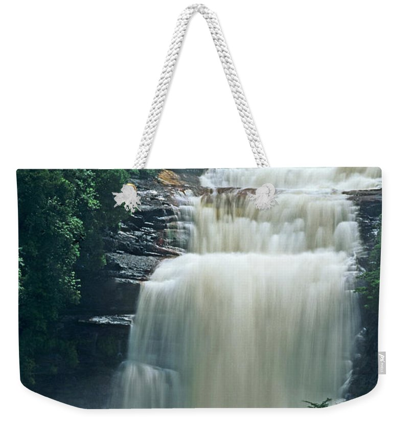 Venezuela Weekender Tote Bag featuring the photograph The Base Of Angel Falls In Canaima National Park Venezuela by Dave Welling