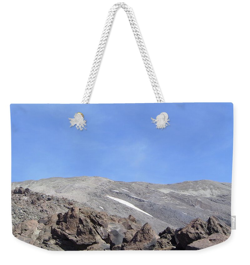 Mt St Helens.mountains Weekender Tote Bag featuring the photograph The Base Of Mt St Helens by Jeff Swan