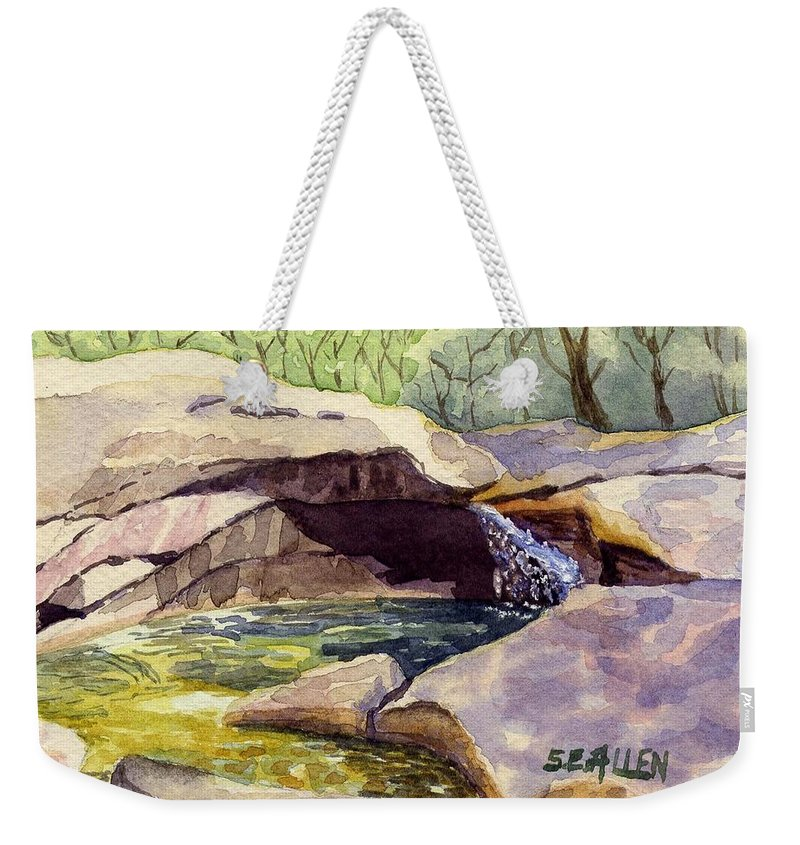The Basin Weekender Tote Bag featuring the painting The Basin by Sharon E Allen