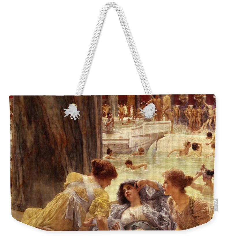 Baths Weekender Tote Bag featuring the painting The Baths Of Caracalla by Sir Lawrence Alma-Tadema