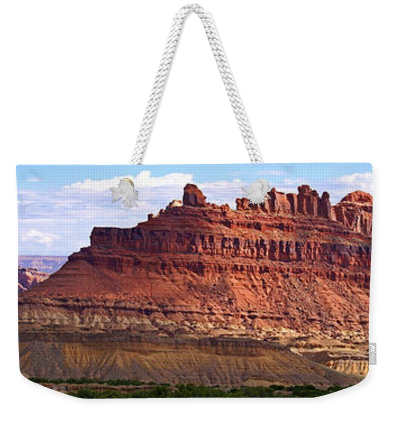 Landscape Utah Weekender Tote Bag featuring the photograph The Battleship Utah by Heather Coen