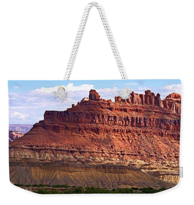 Landscape Utah Weekender Tote Bag featuring the photograph The Battleship Utah by Heather Coen