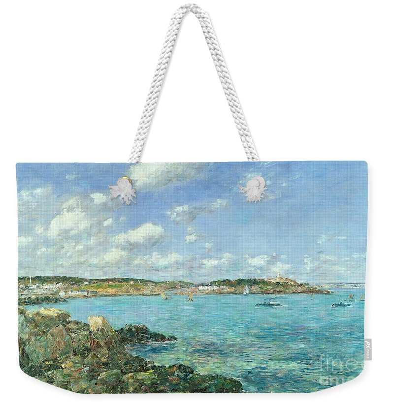 The Weekender Tote Bag featuring the painting The Bay Of Douarnenez by Eugene Louis Boudin