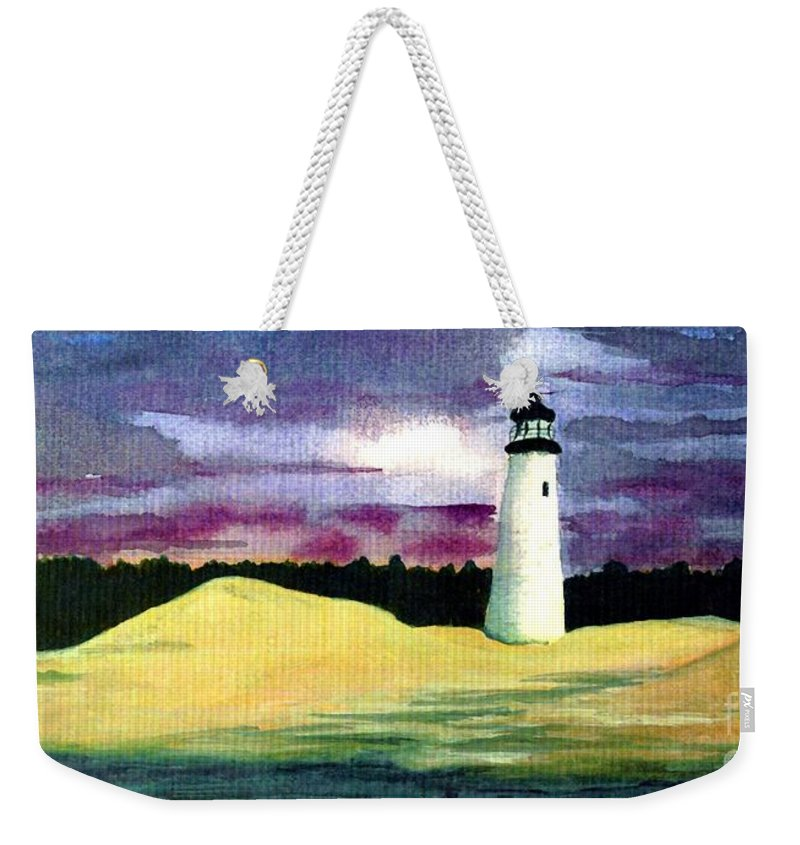 Fine Art Weekender Tote Bag featuring the painting The Beacon by Patricia Griffin Brett