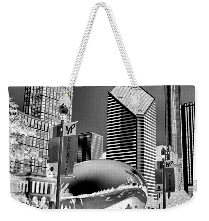 The Bean Weekender Tote Bag featuring the photograph The Bean - 2 by Ely Arsha