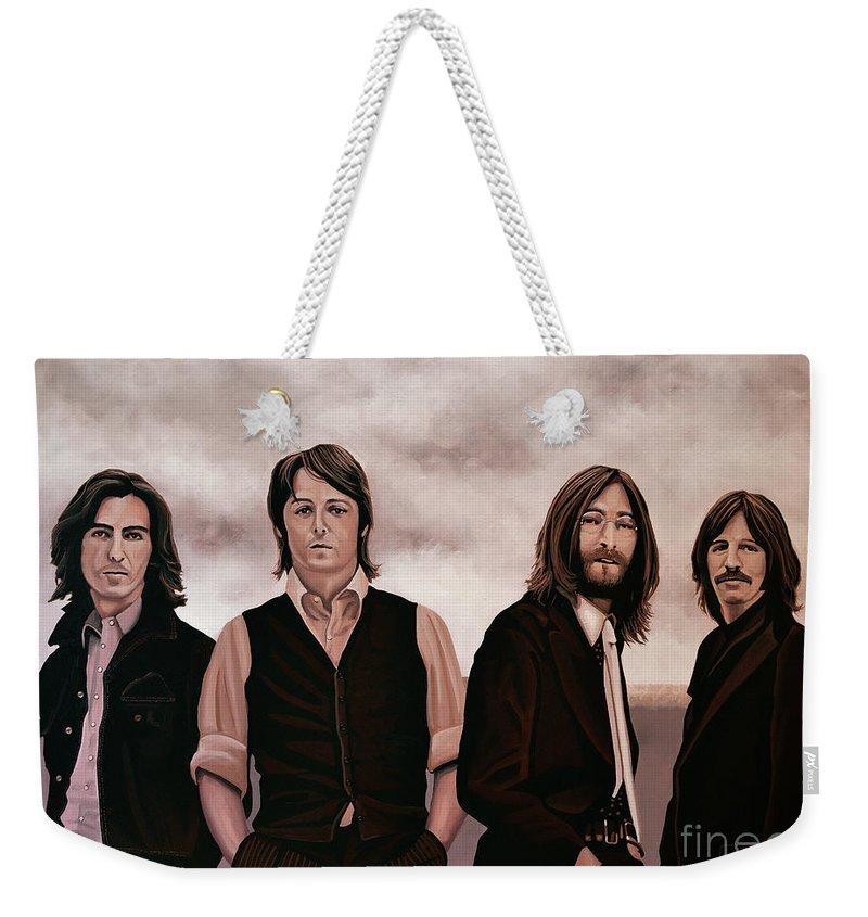 The Beatles Weekender Tote Bag featuring the painting The Beatles 3 by Paul Meijering