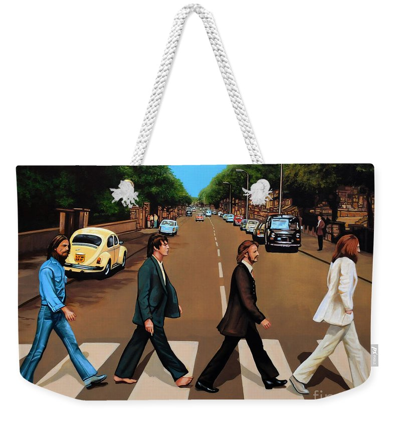 Rock And Roll Paul Mccartney Weekender Tote Bags