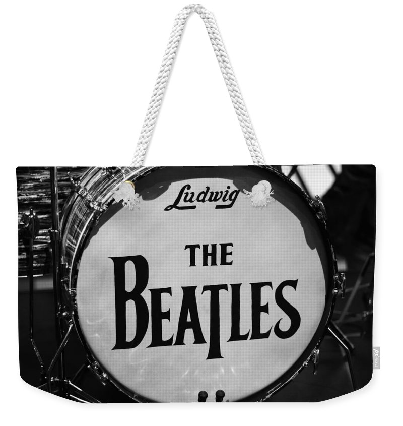 The Beatles Drum Weekender Tote Bag featuring the photograph The Beatles Drum by Dan Sproul