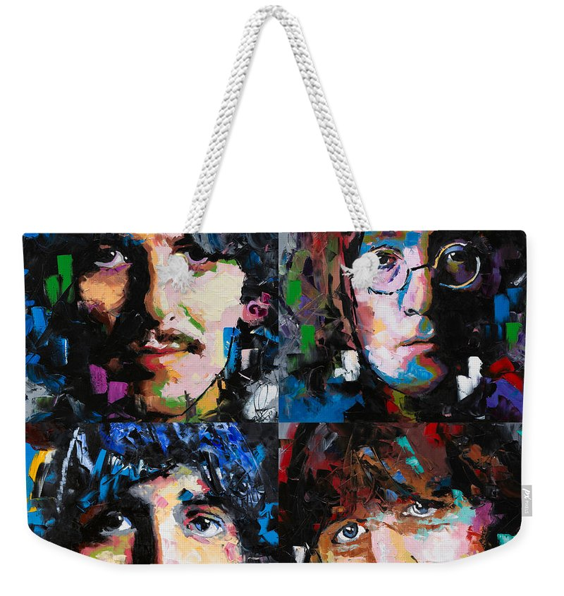 The Beatles Weekender Tote Bag featuring the painting The Beatles by Richard Day