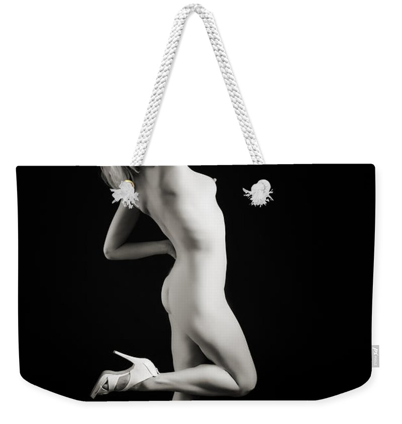 The Beautiful Weekender Tote Bag featuring the photograph The Beautiful Female Nude Fine Art Prints Or Photographs 4248.0 by Kendree Miller