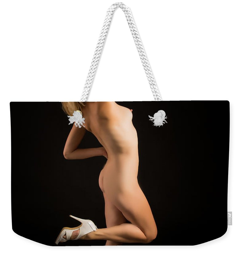 The Beautiful Weekender Tote Bag featuring the photograph The Beautiful Female Nude Fine Art Prints Or Photographs 4259.0 by Kendree Miller