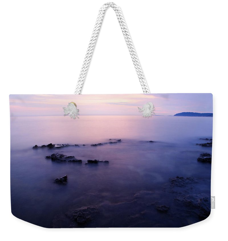 Sea Weekender Tote Bag featuring the photograph The Beautiful Istrian Coastline by Ian Middleton