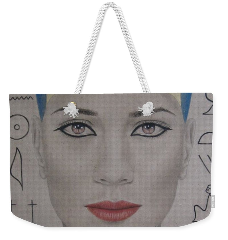 Woman Weekender Tote Bag featuring the painting The Beautiful One Has Come by Lynet McDonald