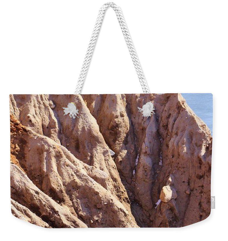 Montauk Weekender Tote Bag featuring the photograph The Beauty In Erosion by Karen Silvestri