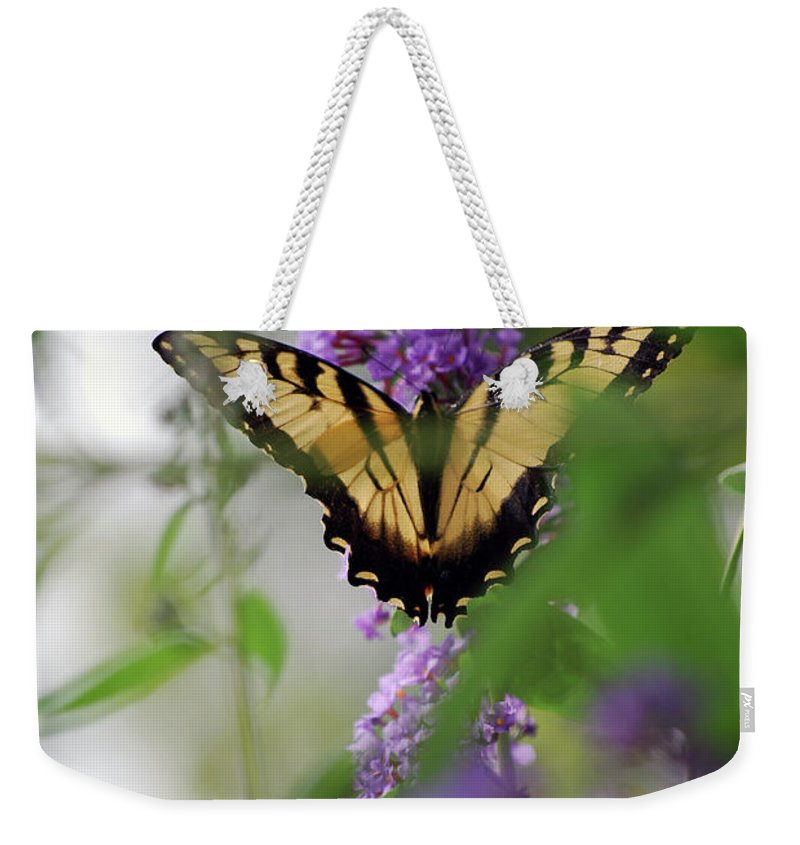 Swallowtail Weekender Tote Bag featuring the photograph The Beauty Of Spring by Lori Tambakis