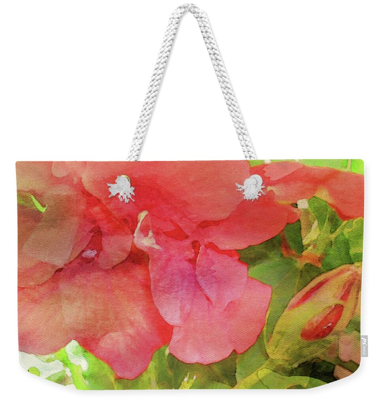 Digital Watercolor Weekender Tote Bag featuring the digital art The Beauty of Spring by James Temple