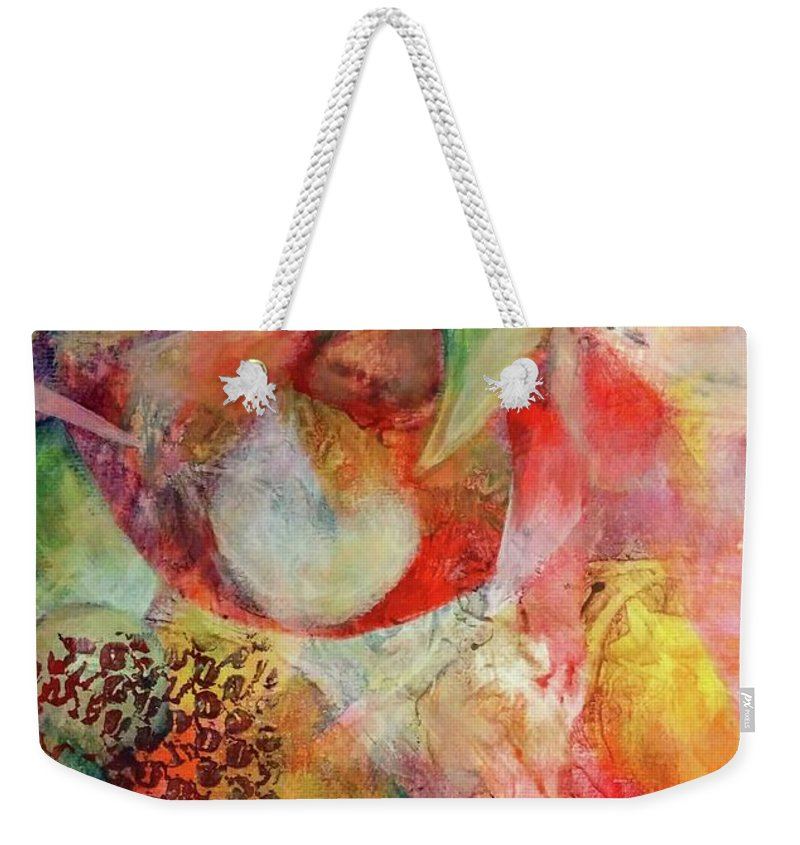 Weekender Tote Bag featuring the painting The Beginning Of Time by Anthony Camilleri