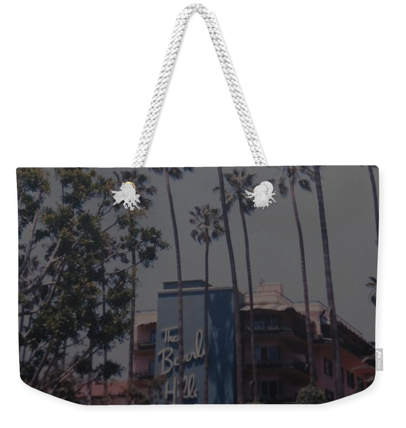 Beverly Hills Weekender Tote Bag featuring the photograph The Beverly Hills Hotel by Rob Hans