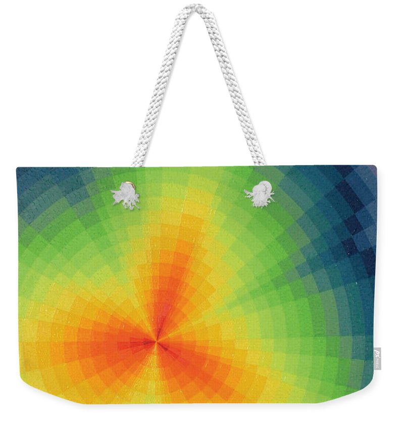 Oil Weekender Tote Bag featuring the painting The Big Bang by Peter Antos