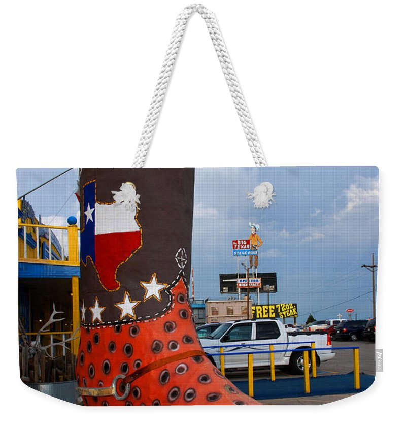 Big Boot Weekender Tote Bag featuring the photograph The Big Boot by Susanne Van Hulst