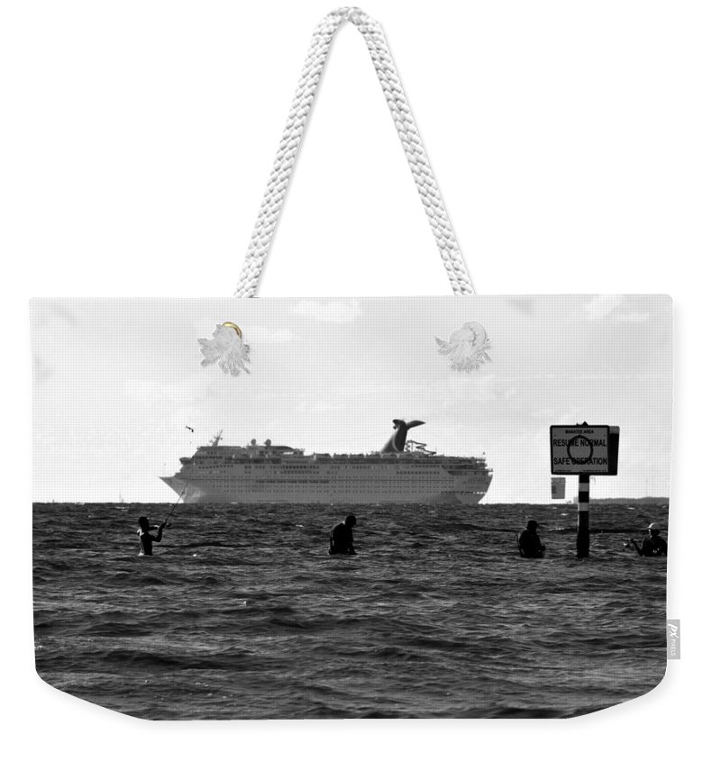 Fishing Weekender Tote Bag featuring the photograph The Big Catch by David Lee Thompson