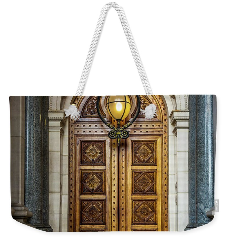 Doors Weekender Tote Bag featuring the photograph The Big Doors by Perry Webster