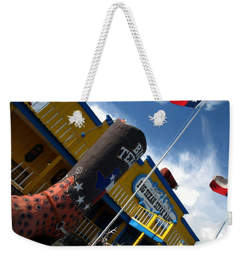 The Big Texan Weekender Tote Bag featuring the photograph The Big Texan II by Susanne Van Hulst