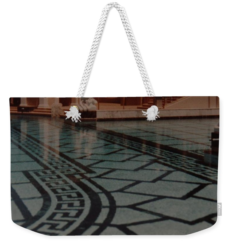 Sculpture Weekender Tote Bag featuring the photograph The Biggest Pool by Rob Hans