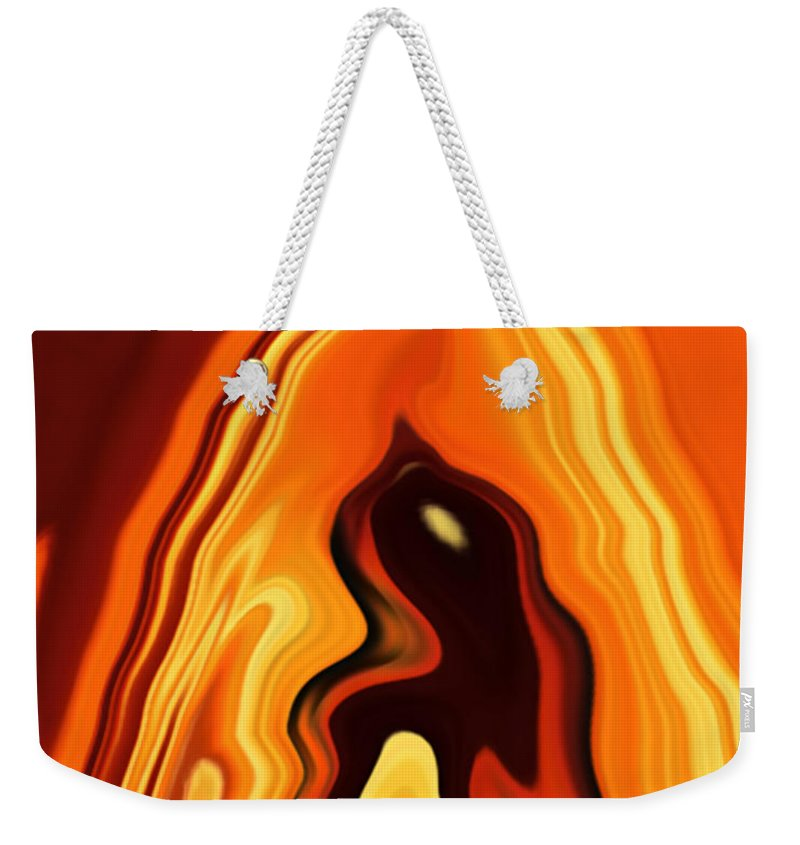 Art Weekender Tote Bag featuring the digital art The Bird In The Case by Rabi Khan