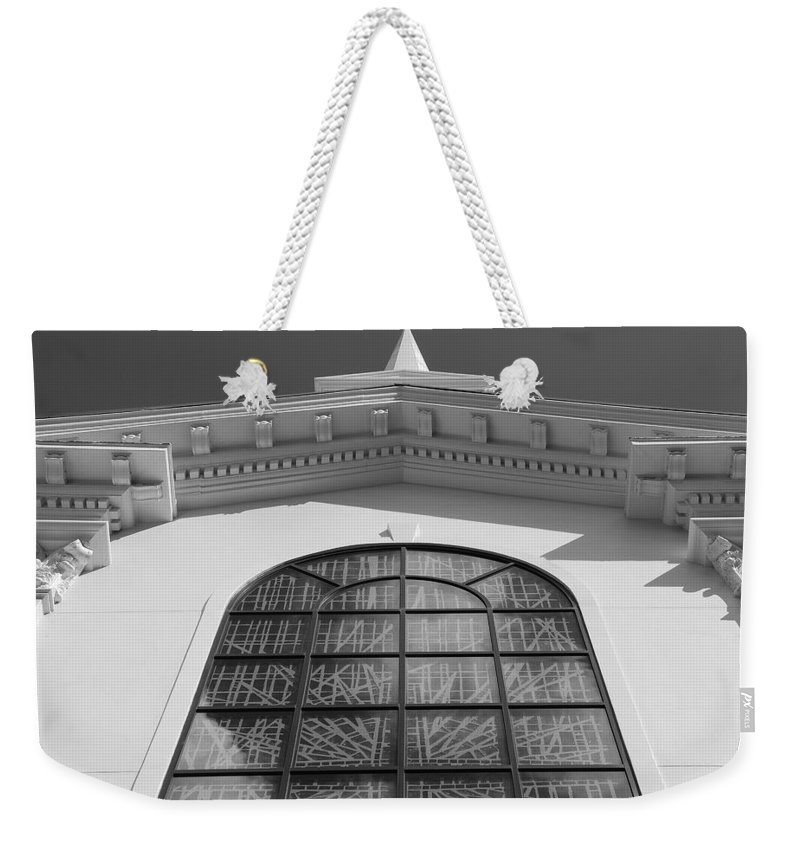Church Weekender Tote Bag featuring the photograph The Black And White Church by Rob Hans