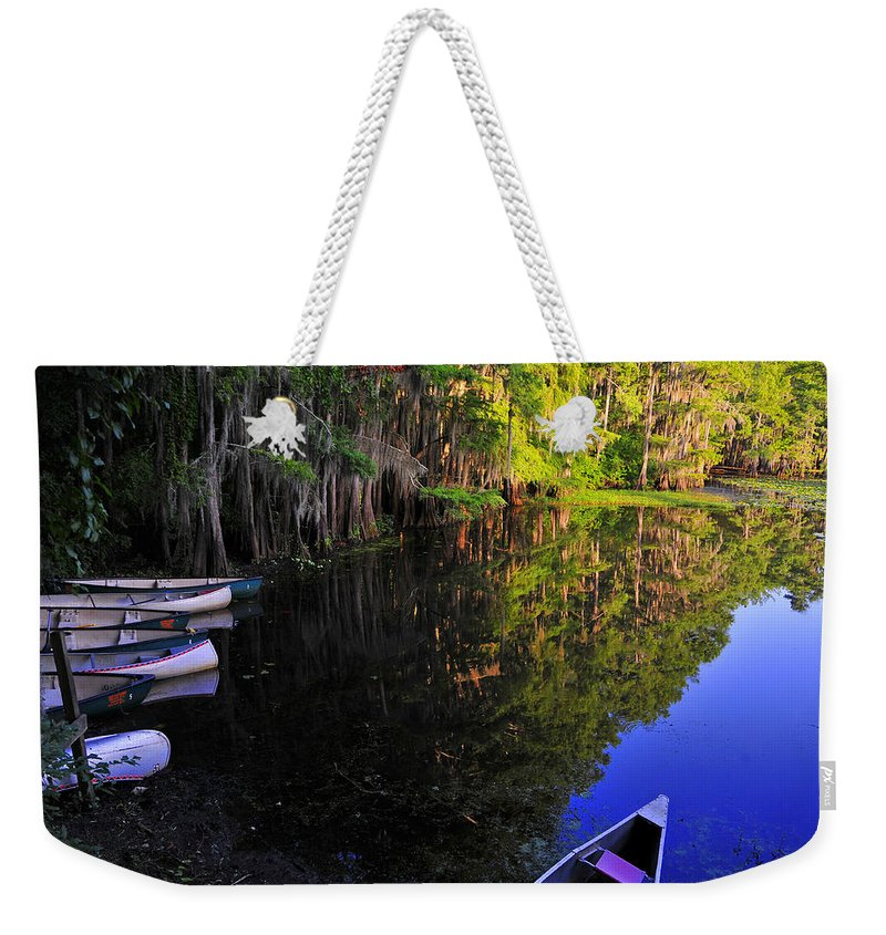 Skip Hunt Weekender Tote Bag featuring the photograph The Black Lagoon by Skip Hunt
