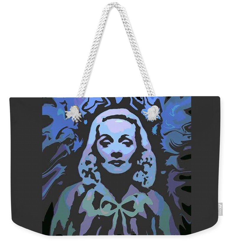Digital Painting Weekender Tote Bag featuring the digital art The Blue Angel by Ansgard Thomson