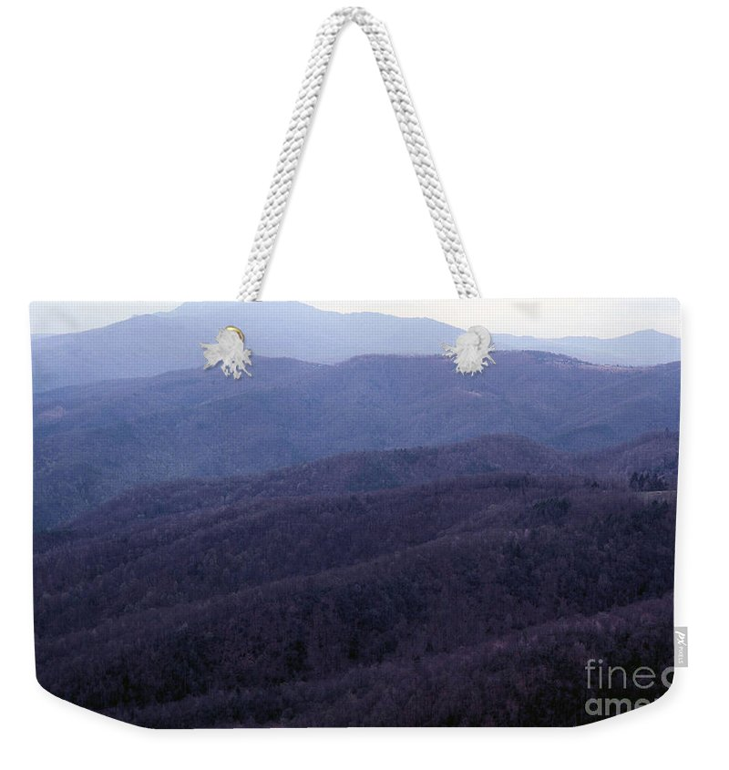 Mountains Weekender Tote Bag featuring the photograph The Blue Ridge by Richard Rizzo