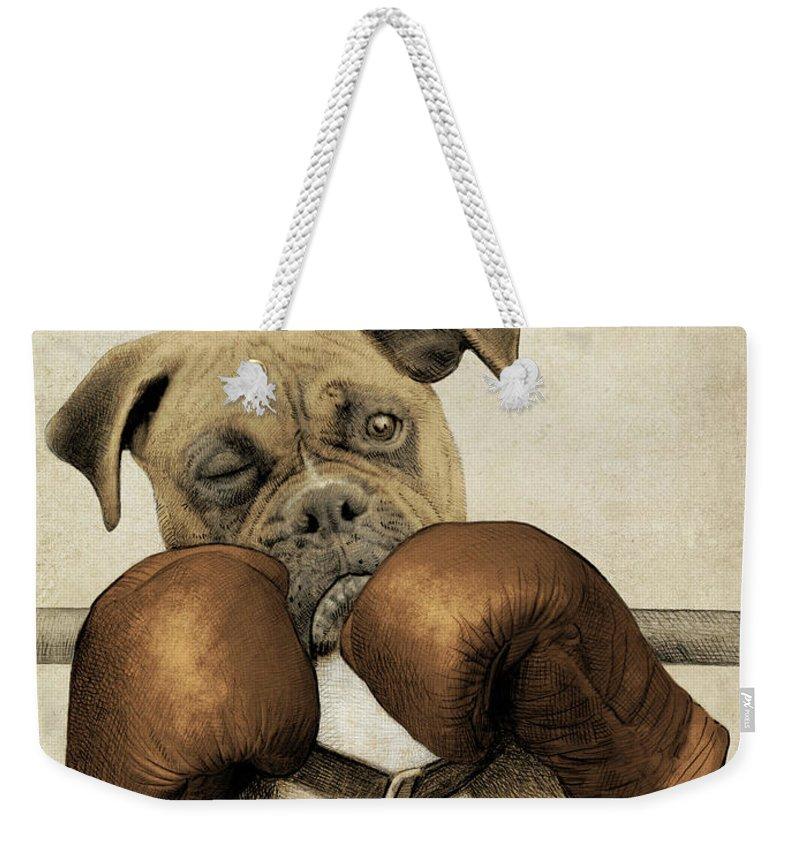 Boxer Weekender Tote Bags