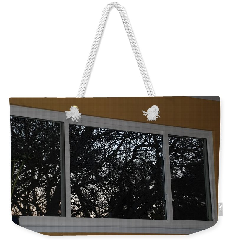 Window Weekender Tote Bag featuring the photograph The Branch Window by Rob Hans