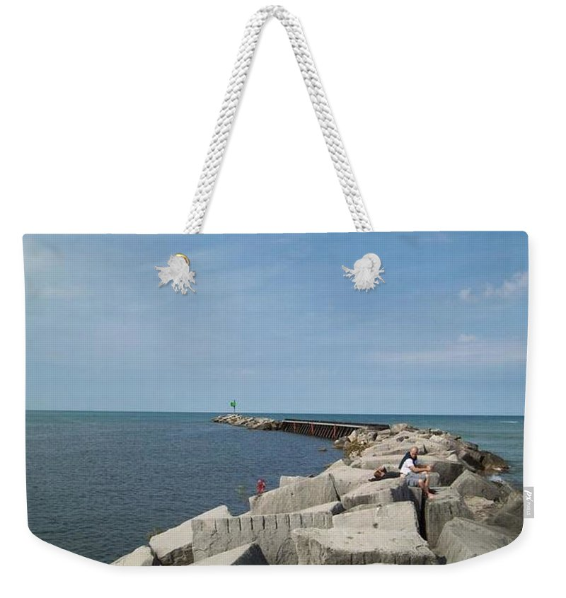 Tmad Weekender Tote Bag featuring the photograph The Break by Michael TMAD Finney