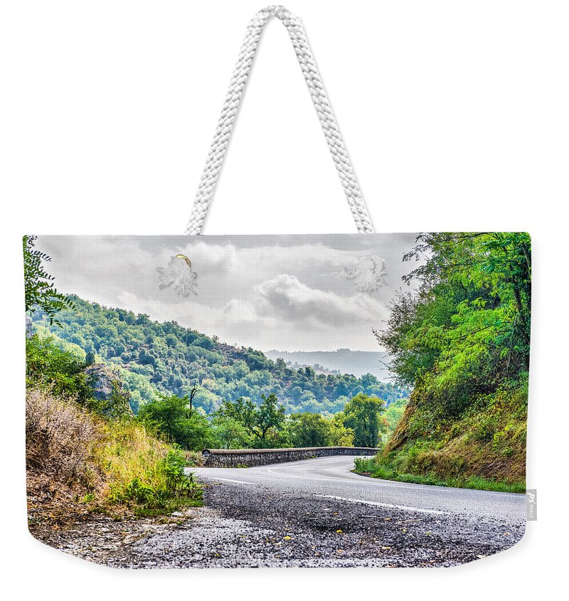 Anna Maloverjan Weekender Tote Bag featuring the photograph The Breath Of Autumn by Anna Maloverjan