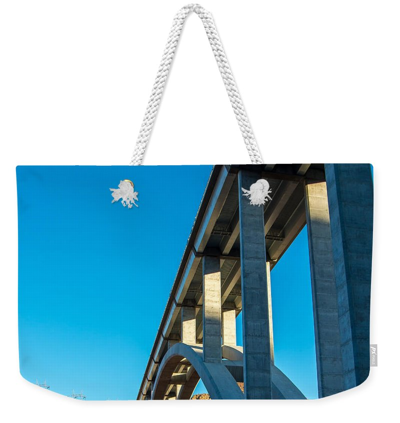 Hoover Dam Weekender Tote Bag featuring the photograph The Bridge by Stephen Whalen