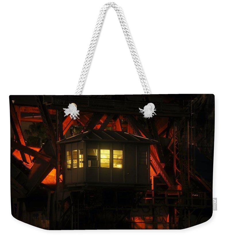 Bridge Weekender Tote Bag featuring the photograph The Bridge Tenders House by David Lee Thompson