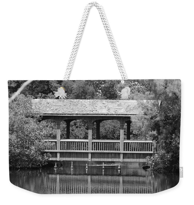Architecture Weekender Tote Bag featuring the photograph The Bridges Of Miami Dade County by Rob Hans