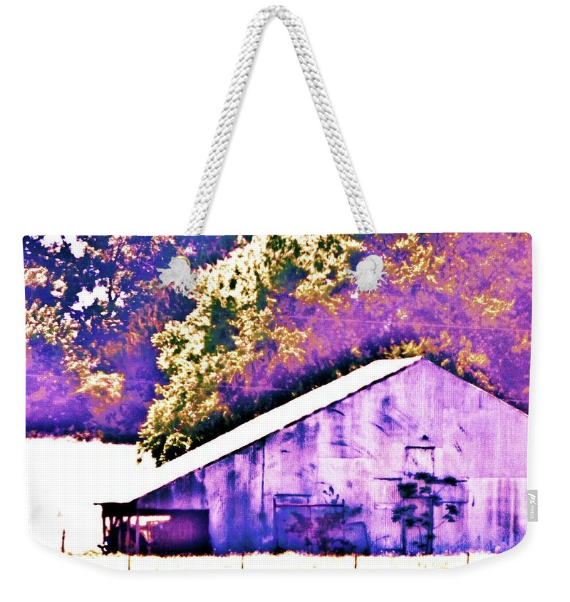 Barn Weekender Tote Bag featuring the photograph The Broad Side by Traci Barnes
