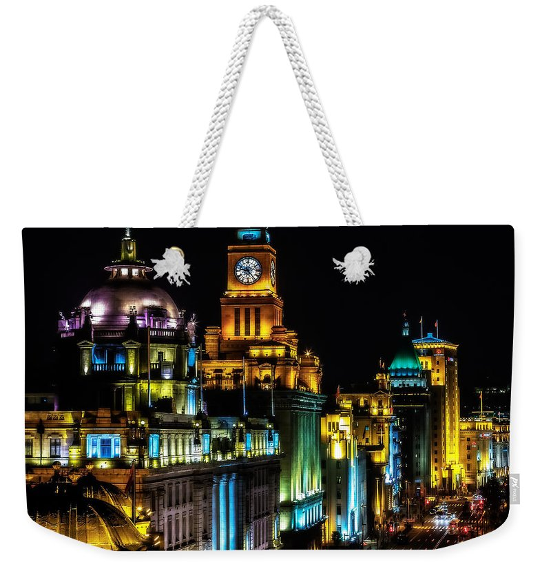 Cityscape Weekender Tote Bag featuring the photograph The Bund by Jason Roberts