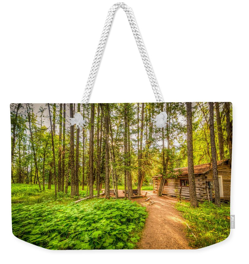 Montana Weekender Tote Bag featuring the photograph The Cabin In Montana by Spencer McDonald