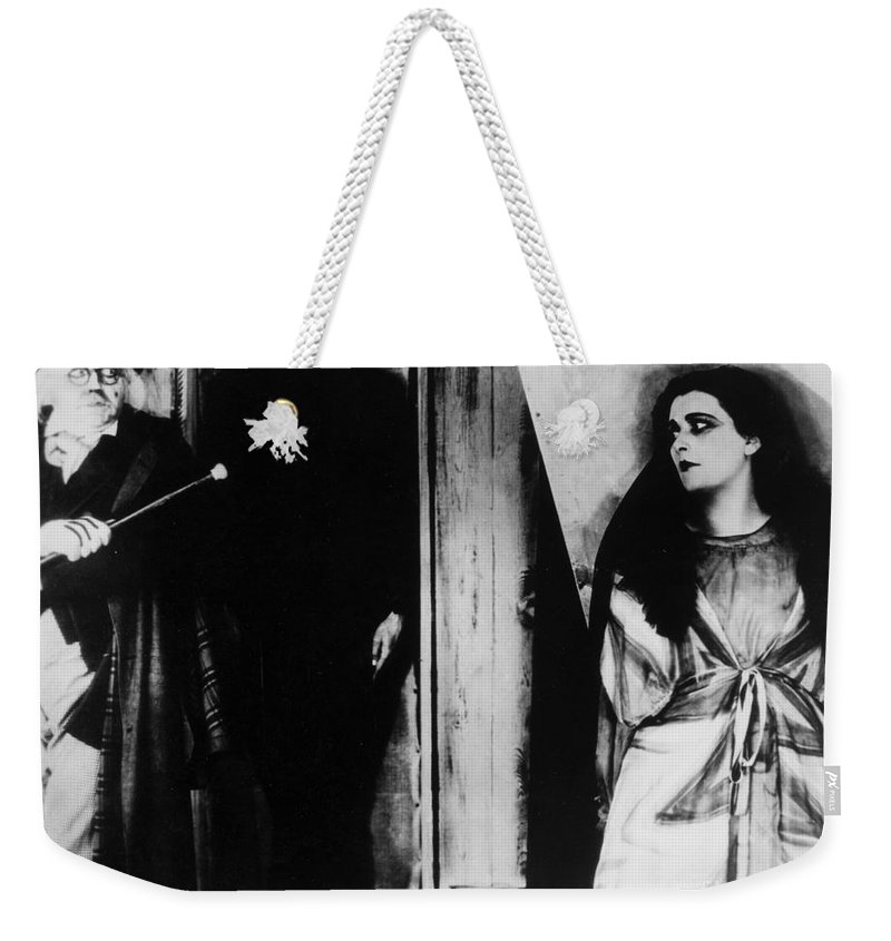 1919 Weekender Tote Bag featuring the photograph The Cabinet Of Dr.caligari by Granger