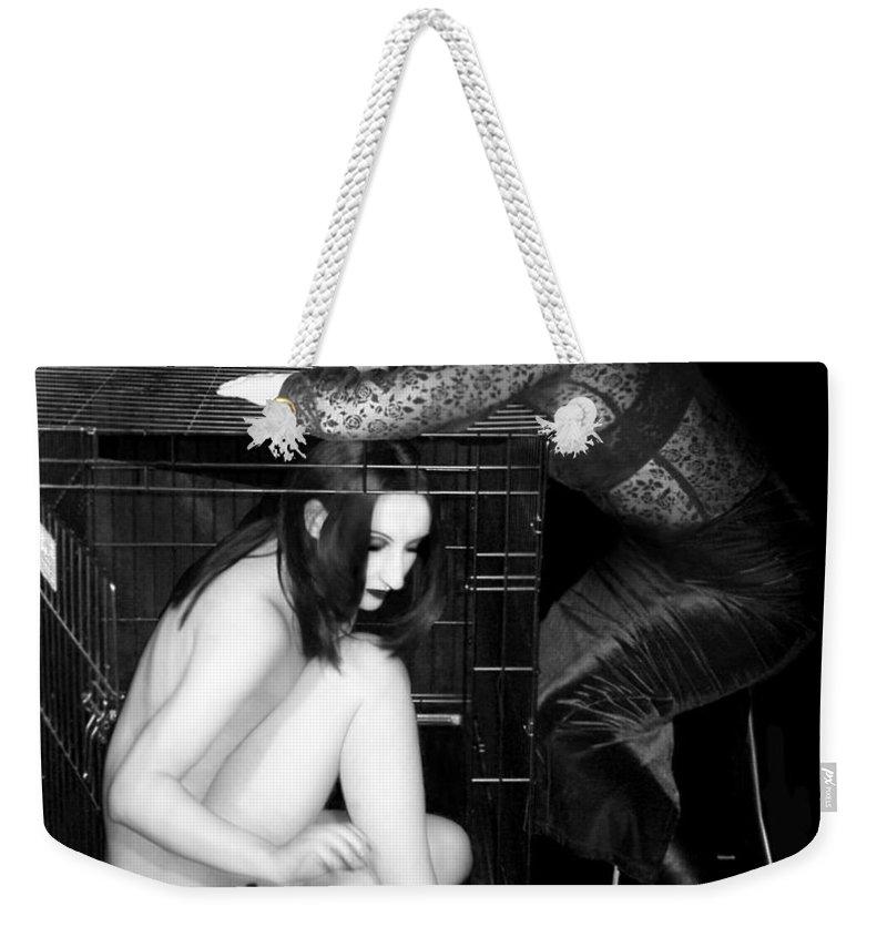 Art Weekender Tote Bag featuring the photograph The Cage 1 - Self Portrait by Jaeda DeWalt