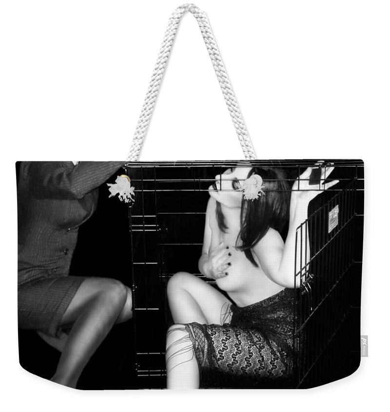 Art Weekender Tote Bag featuring the photograph The Cage 2 - Self Portrait by Jaeda DeWalt