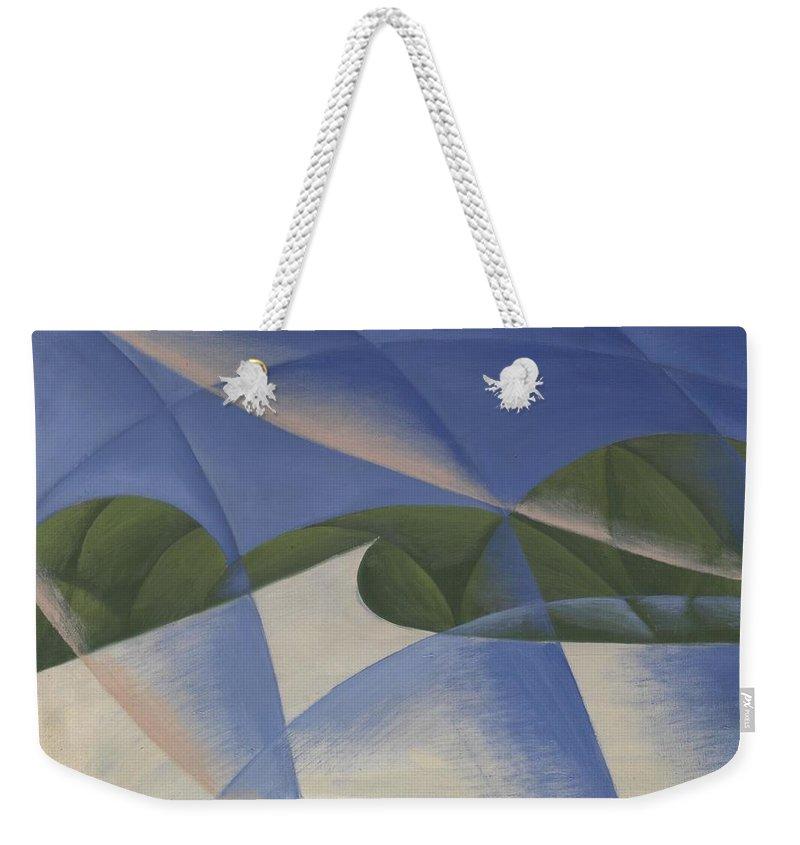 Giacomo Balla Weekender Tote Bag featuring the painting The Car Has Passed by Giacomo Balla