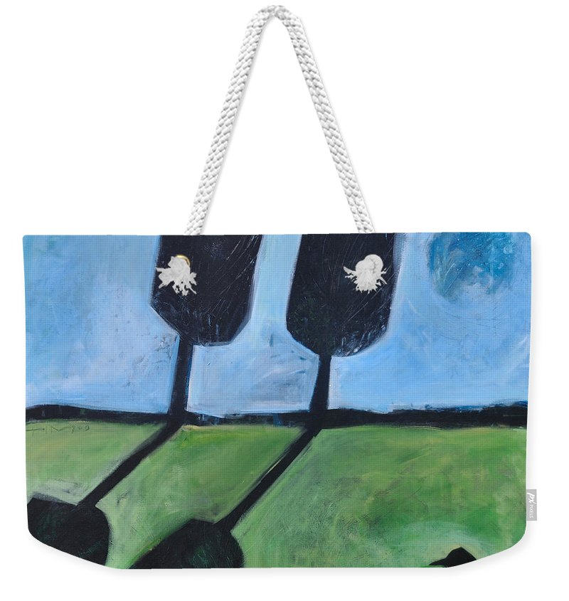 Bird Weekender Tote Bag featuring the painting The Casual Observer by Tim Nyberg