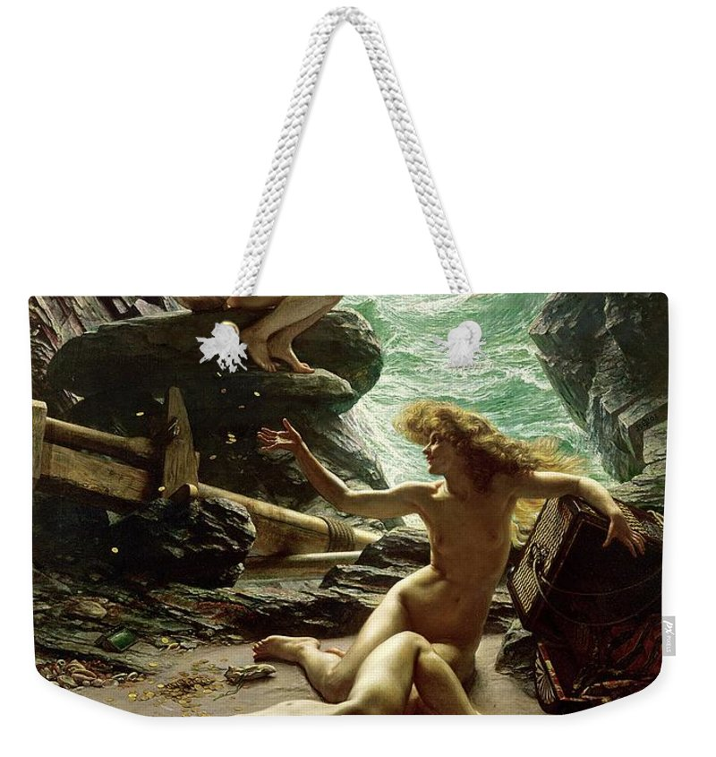 The Cave Of The Storm Nymphs Weekender Tote Bag featuring the painting The Cave Of The Storm Nymphs by Sir Edward John Poynter