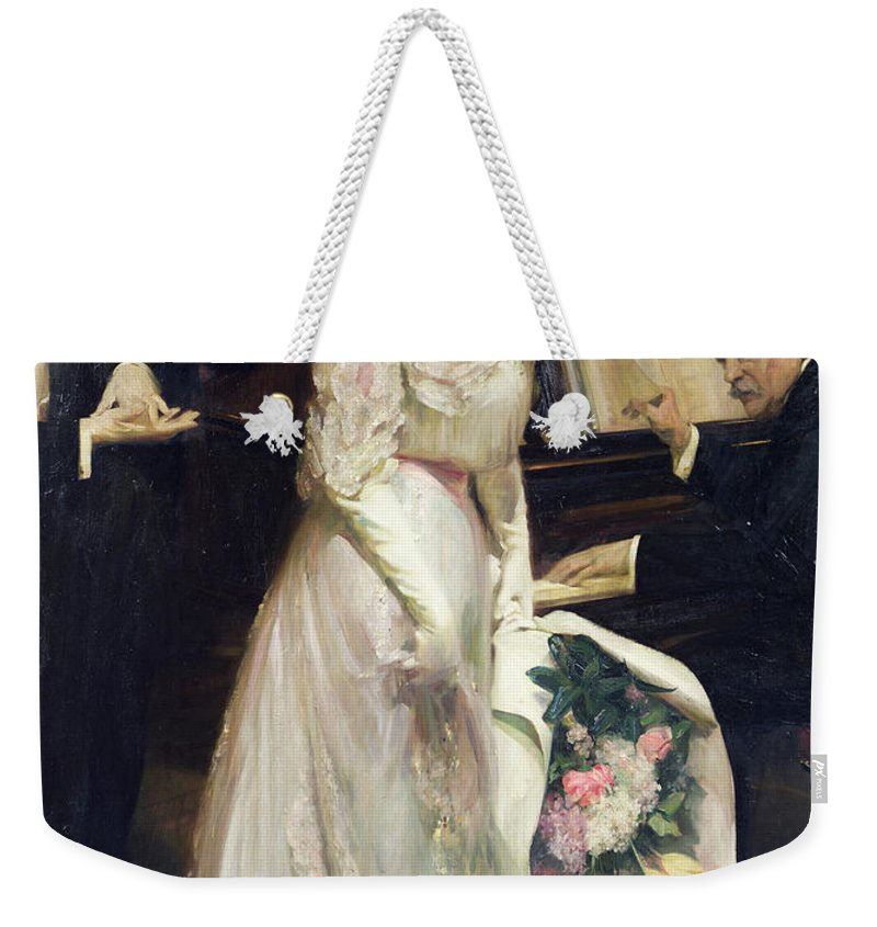 The Celebrated Weekender Tote Bag featuring the painting The Celebrated by Joseph Marius Avy